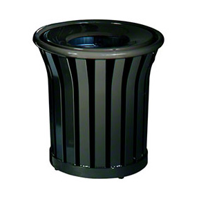 MT22PLBK AMERICANA SERIES OUTDOOR TRASH CONTAINER 24 GAL