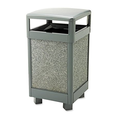 R36HT2000 ASPEN HINGED TOP TRASH RECEPTACLE GRAY/W/DOVE